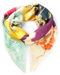 Écharpe à fleurs multicolore Alexander McQueen