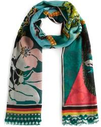 Écharpe à fleurs multicolore Etro