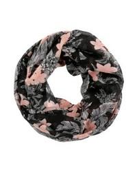 Écharpe à fleurs noire Anna Field