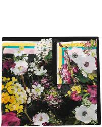 Écharpe à fleurs noire Dolce & Gabbana