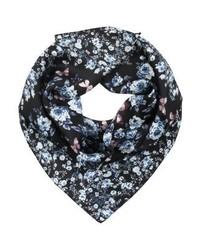 Écharpe à fleurs noire GUESS