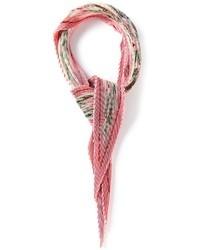 Écharpe à fleurs rose