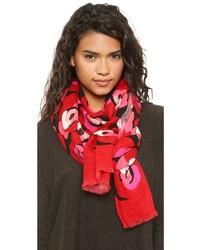 Écharpe à fleurs rouge Kate Spade