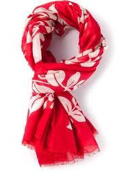 Écharpe à fleurs rouge Marc Jacobs