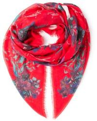 Écharpe à fleurs rouge Zadig & Voltaire