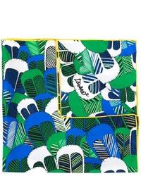 Écharpe à fleurs verte Dsquared2