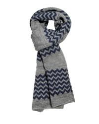 Écharpe à motif zigzag grise Asos