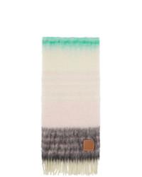 Écharpe à rayures horizontales beige Loewe
