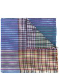 Écharpe à rayures horizontales bleu clair Etro
