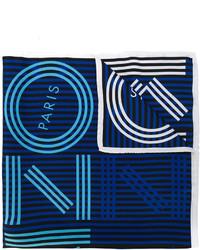 Écharpe à rayures horizontales bleu marine Kenzo