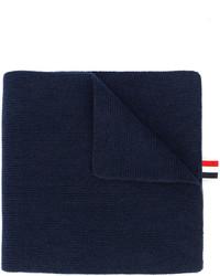Écharpe à rayures horizontales bleu marine Thom Browne