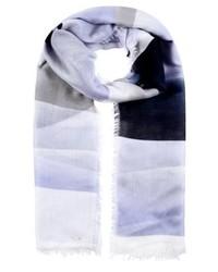 Écharpe à rayures horizontales bleue claire Opus