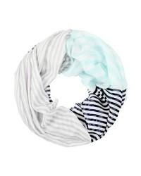 Écharpe à rayures horizontales bleue claire s.Oliver