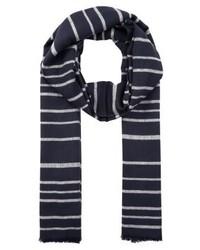 Écharpe à rayures horizontales bleue marine Only