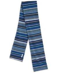 Écharpe à rayures horizontales bleue