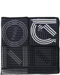 Écharpe à rayures horizontales gris foncé Kenzo