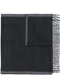 Écharpe à rayures horizontales gris foncé Salvatore Ferragamo