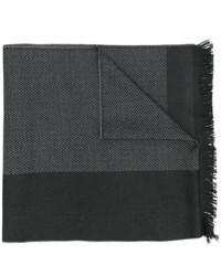 Écharpe à rayures horizontales gris foncé Versace