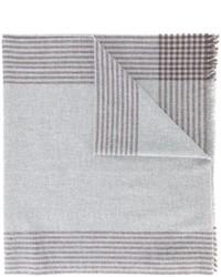 Écharpe à rayures horizontales grise Brunello Cucinelli