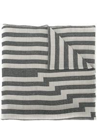 Écharpe à rayures horizontales grise Etro