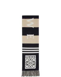 Écharpe à rayures horizontales marron clair Loewe
