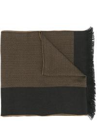 Écharpe à rayures horizontales marron Versace