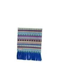 Écharpe à rayures horizontales multicolore