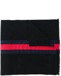 Écharpe à rayures horizontales noire