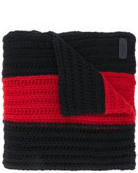 Écharpe à rayures horizontales noire Dsquared2