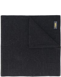 Écharpe à rayures horizontales noire Fendi