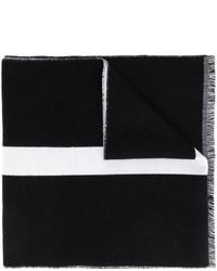 Écharpe à rayures horizontales noire Givenchy