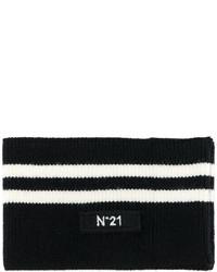 Écharpe à rayures horizontales noire No.21