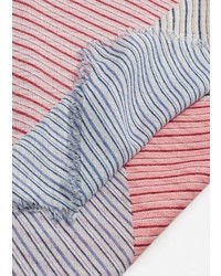 Écharpe à rayures horizontales rose