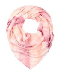Écharpe à rayures horizontales rose GUESS