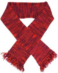 Écharpe à rayures horizontales rouge