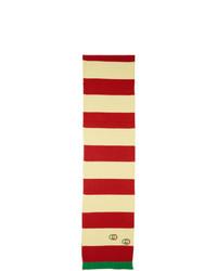 Écharpe à rayures horizontales rouge Gucci