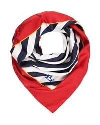 Écharpe à rayures horizontales rouge Ralph Lauren