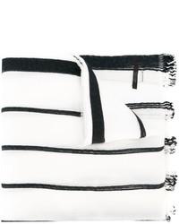 Écharpe à rayures verticales blanche et noire Diesel