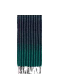 Écharpe à rayures verticales bleu marine Paul Smith