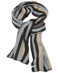 Écharpe à rayures verticales gris foncé