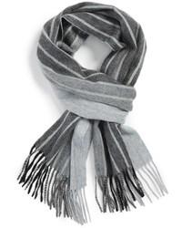 Écharpe à rayures verticales grise