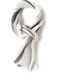 Écharpe à rayures verticales grise Bottega Veneta