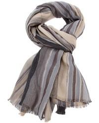 Écharpe à rayures verticales grise Etro
