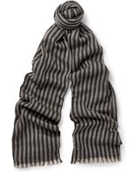 Écharpe à rayures verticales grise Gucci