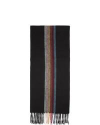 Écharpe à rayures verticales noire Paul Smith