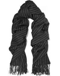 Écharpe à rayures verticales noire Rag & Bone