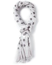 Écharpe blanche et noire