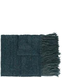 Écharpe bleu canard Isabel Marant