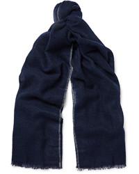 Écharpe bleu marine Brunello Cucinelli