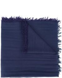 Écharpe bleu marine Lanvin